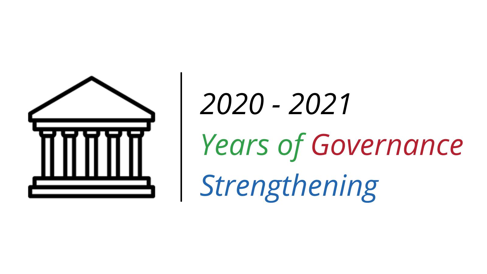 2020 2021 Years of Governance Strengthening Regtangle