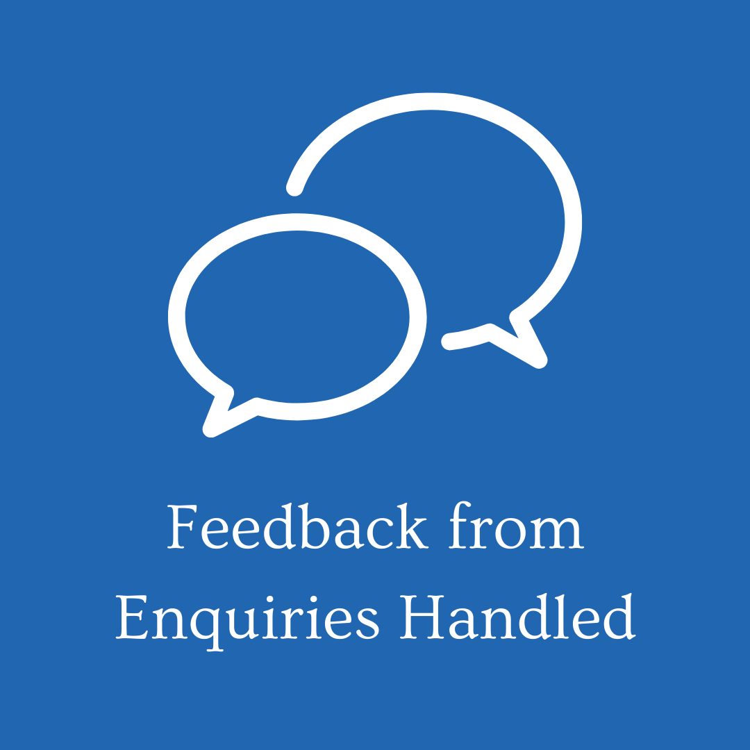 Feedback from Enquiries Handled 8